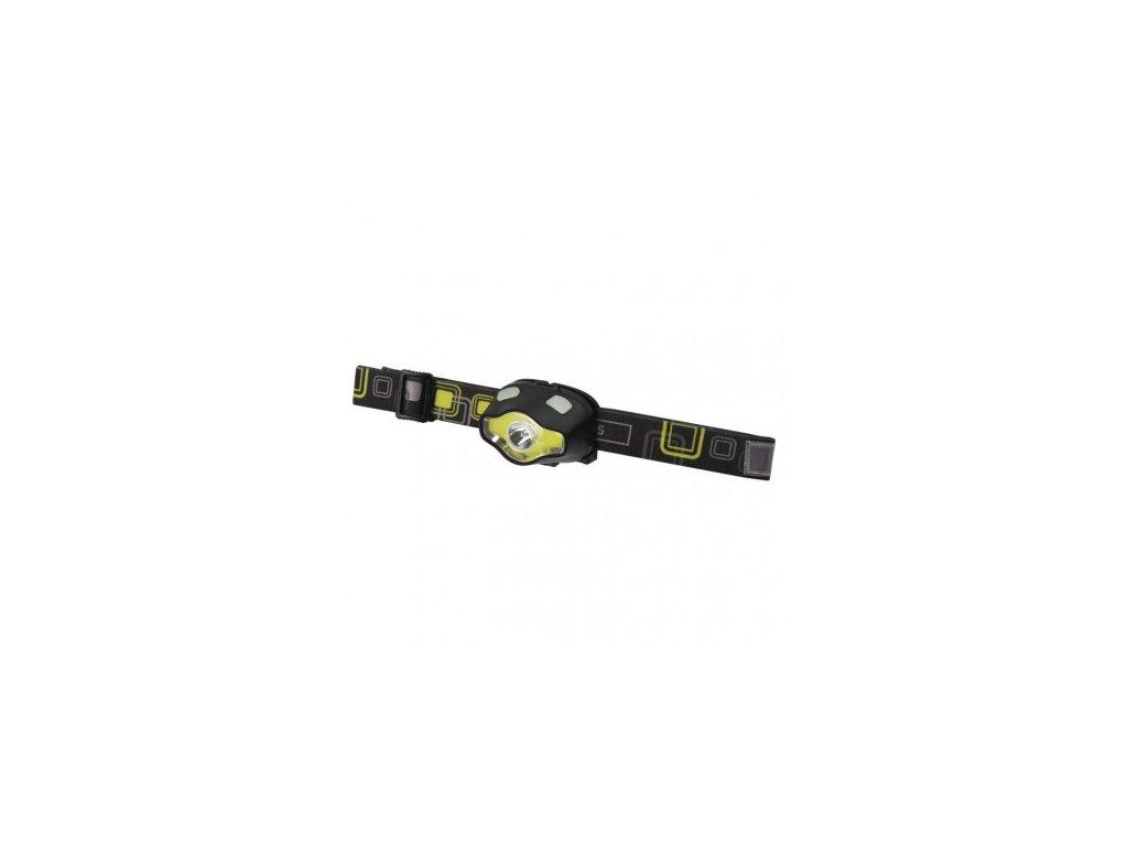 COB LED + LED čelovka P3536, 220 lm, 100 m, 3× AAA