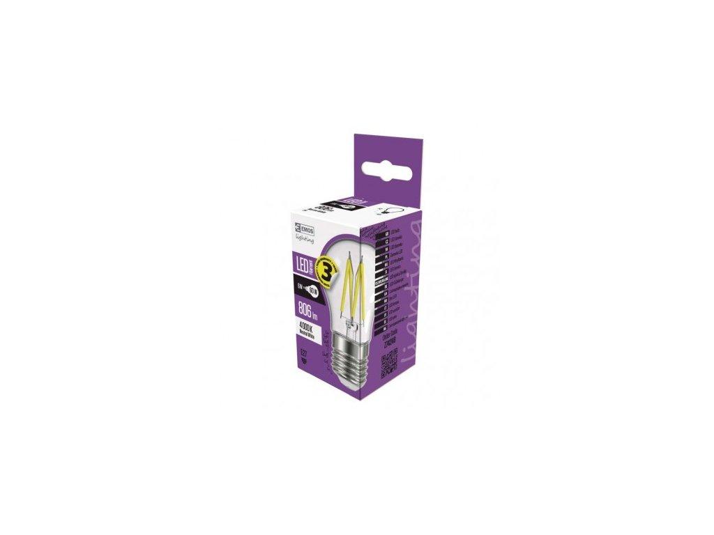 LED žárovka Filament Mini Globe 6W E27 neutrální bílá