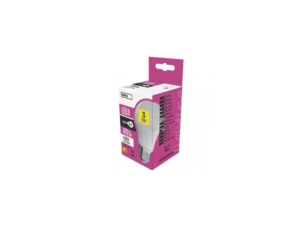 LED žárovka Classic A60 5,2W E27 neutrální bílá