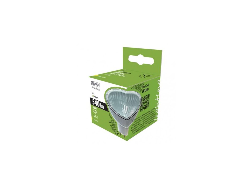 Halogenová žárovka MR16 40W GU5,3 teplá bílá, stmívatelná