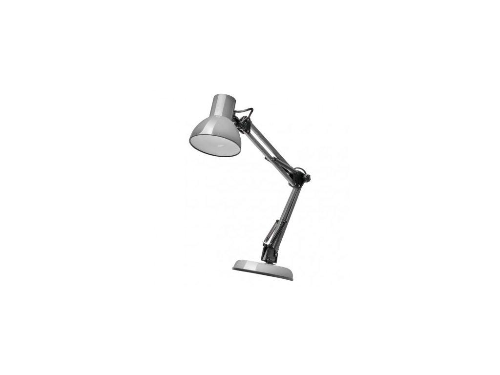 Stolní lampa LUCAS na žárovku E27, tmavě šedá