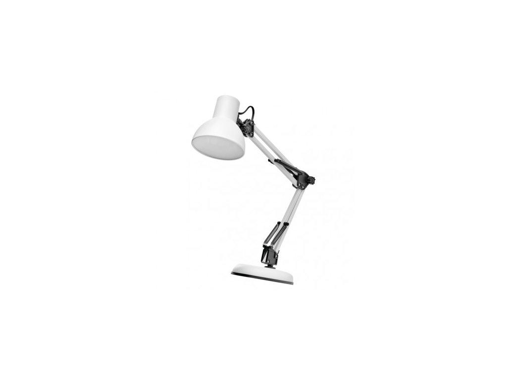Stolní lampa LUCAS na žárovku E27, bílá