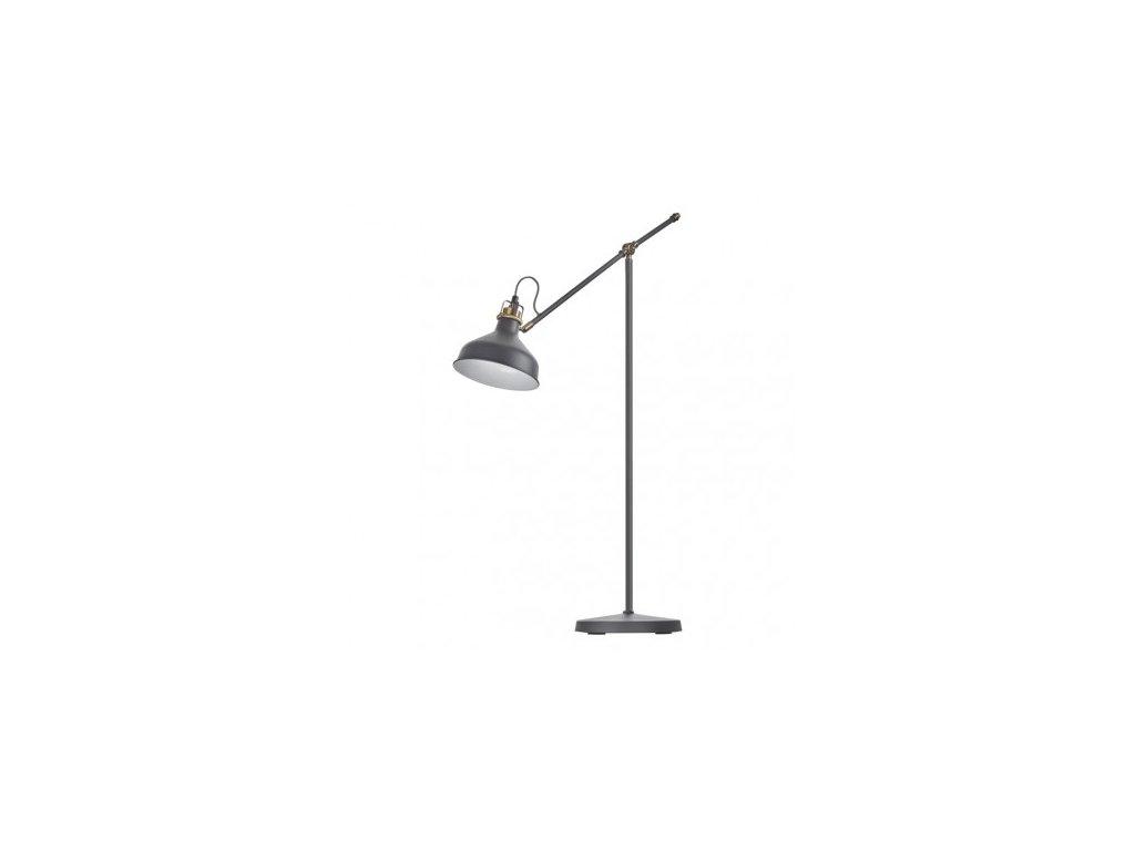 Stojací lampa ARTHUR na žárovku E27, 150cm, tmavě šedá