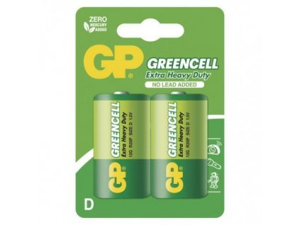 Zinková baterie GP Greencell D (R20)