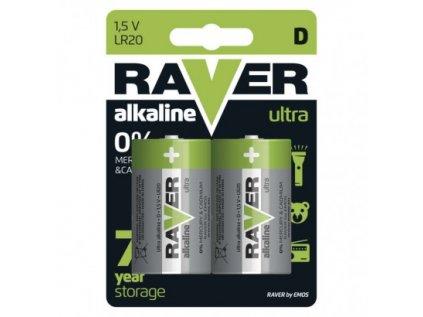 Alkalická baterie RAVER D (LR20)