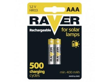 Nabíjecí baterie do solárních lamp RAVER AAA (HR03) 400 mAh
