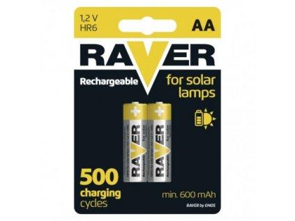 Nabíjecí baterie do solárních lamp RAVER AA (HR6) 600 mAh