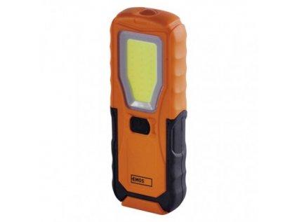 COB LED + LED pracovní svítilna P4110, 360 lm, 4× AA