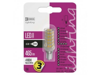 LED žárovka Classic JC 4,5W E14 neutrální bílá