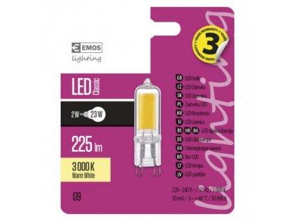 LED žárovka Classic JC 2W G9 teplá bílá