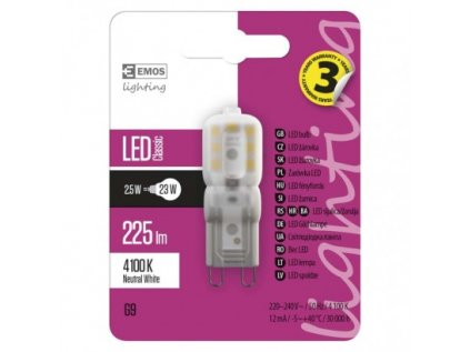 LED žárovka Classic JC 2,5W G9 neutrální bílá