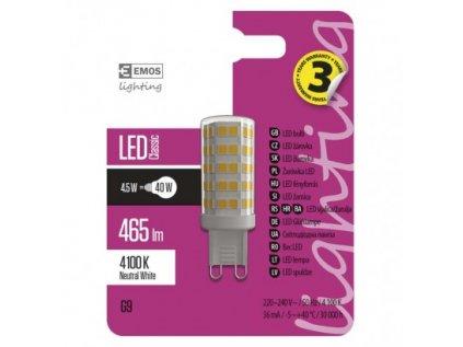 LED žárovka Classic JC 4,5W G9 neutrální bílá