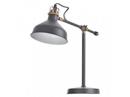 Stolní lampa HARRY na žárovku E27, tmavě šedá