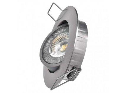 LED bodové svítidlo Exclusive stříbrné, kruh 5W neutr. bílá