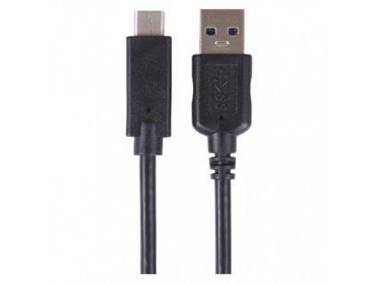 USB kabel 3.0 A/M - USB 3.1 C/M 1m černý, Quick charge