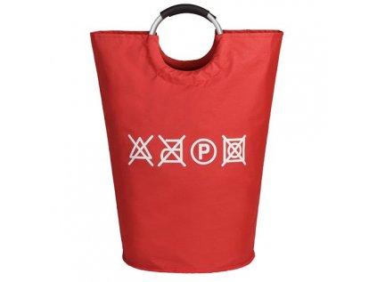 Taška plátěná na prádlo červená