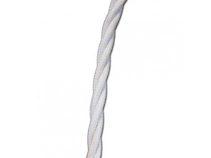 Kabel elektrický pletený bílý 3*0,75 mm
