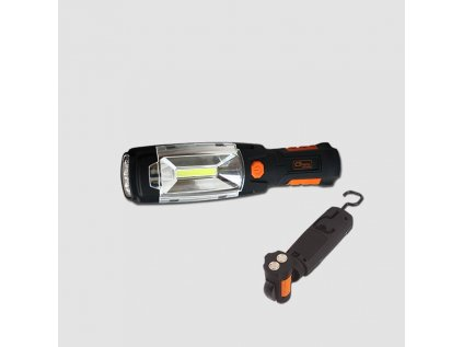 Svítilna pracovní 10COB-LED 3W + 6 LED otočná 360° 3XAA