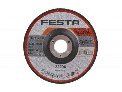 Kotouč brusný FESTA INDUSTRY na kov 125x6. 5x22. 2mm (D)