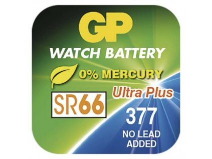 Knoflíková baterie do hodinek GP 377F (SR66, SR626)