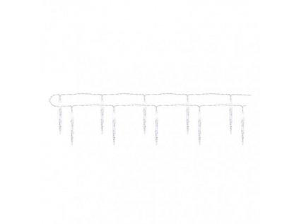 LED vánoční girlanda – 10x rampouch, 1,35 m, 2x AA, vnitřní, studená bílá, časovač