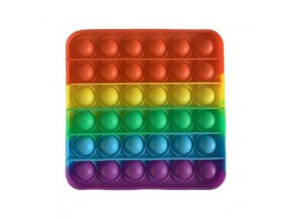 Antistresová hračka POP IT čtverec barevný