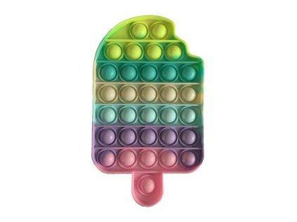 Antistresová hračka POP IT zmrzlina barevná