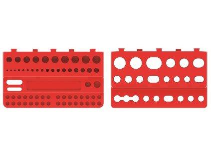 Sada držáků na nářadí BINEER SHELFS 190x111mm, červená, 2 ks