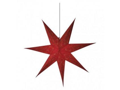 LED vánoční hvězda papírová červená, 75cm