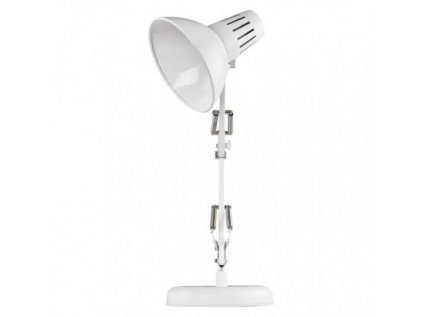 Stolní lampa DUSTIN na žárovku E27, bílá