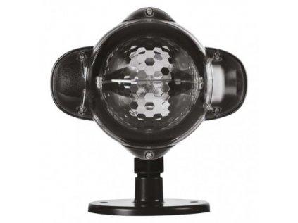 LED dekorativní projektor – padající vločky, venkovní i vnitřní, bílá
