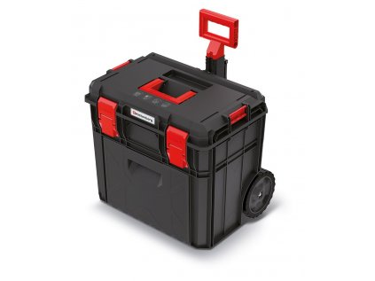 Kufr na nářadí s transp. kolečky X BLOCK PRO černý 546x380x510