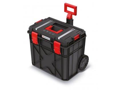 Kufr na nářadí s transp. kolečky X BLOCK TECH černý 546x380x510