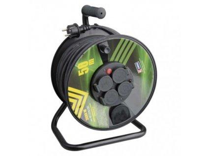 Gumový prodlužovací kabel na bubnu – 4 zásuvky, 50m, 1,5mm2