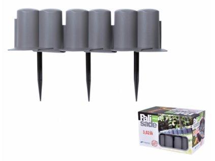 Palisáda-obruba plastová 3x0,1m 8ks