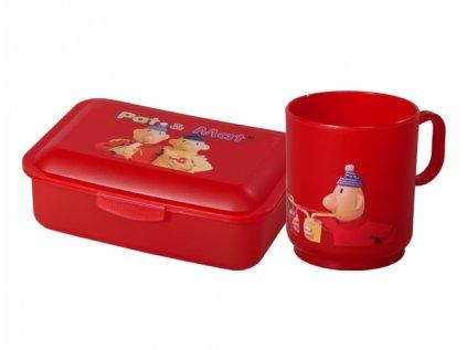 Set PAM box na svačinu střední+hrnek plastový 2,5dl