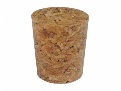 Zátka korková pro 1-3 litrové lahve 25mm 2,4x2,8cm