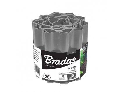 Bradas Plastový okraj trávníku OBFGY0920 20cmx9m šedá