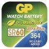 Knoflíková baterie do hodinek GP 364F (SR60, SR621)