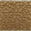 Mozaika JSM-JB014 Mozaika skleněná kámen zlatá 29,7x29,7cm sklo kamenná
