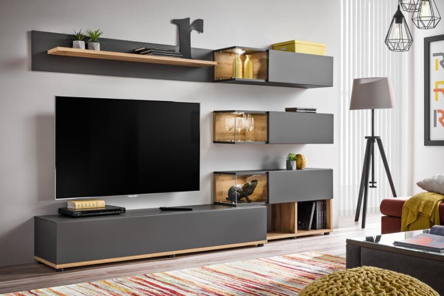 Hravé variácie obývačky s modernou obývacou stenou: pre romantikov, knihomoľov aj minimalistov