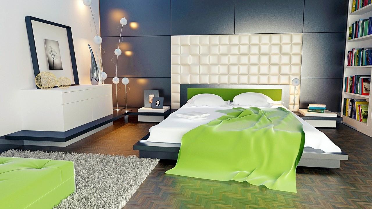 Zelená spálňa pre dobrý spánok