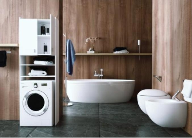 Ušetrite miesto v kúpeľni: Skrinka nad práčku vám nesmie chýbať!