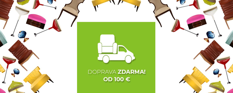 Doprava zadarmo pri nakupe nad 100 €