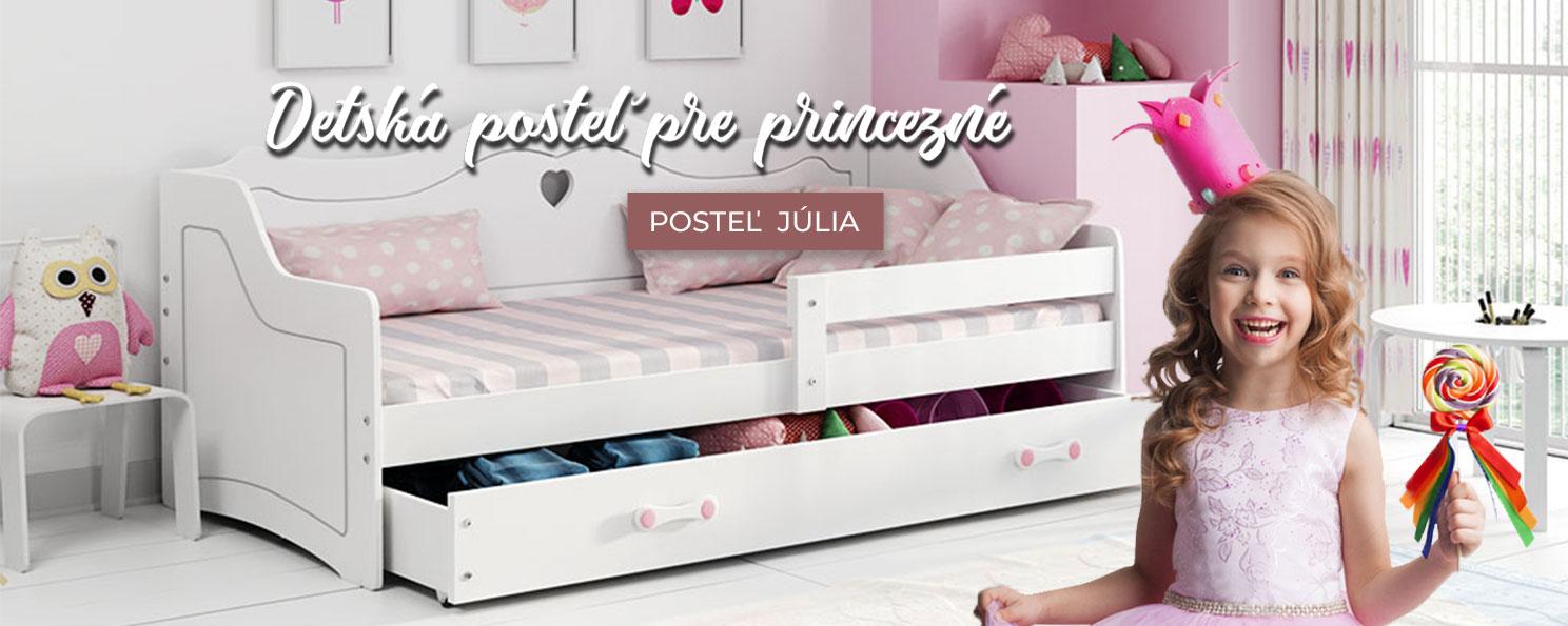 Detská posteľ Júlia ideálna pre všetky malé princezné