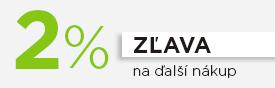 2% zľava na ďalší nákup