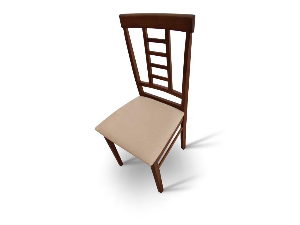 Jedálenská stolička, orech/béžová, OLEG NEW