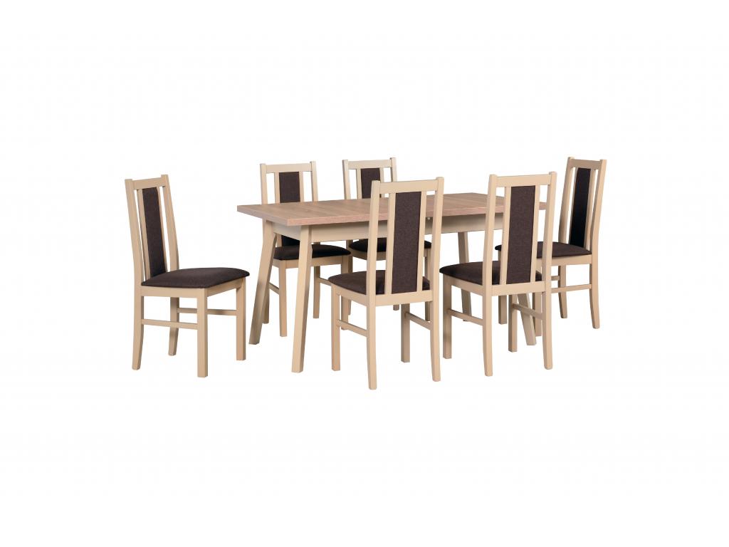 moderny dreveny jedalensky set OSLO 5 BOSS 14 dub sonoma detail