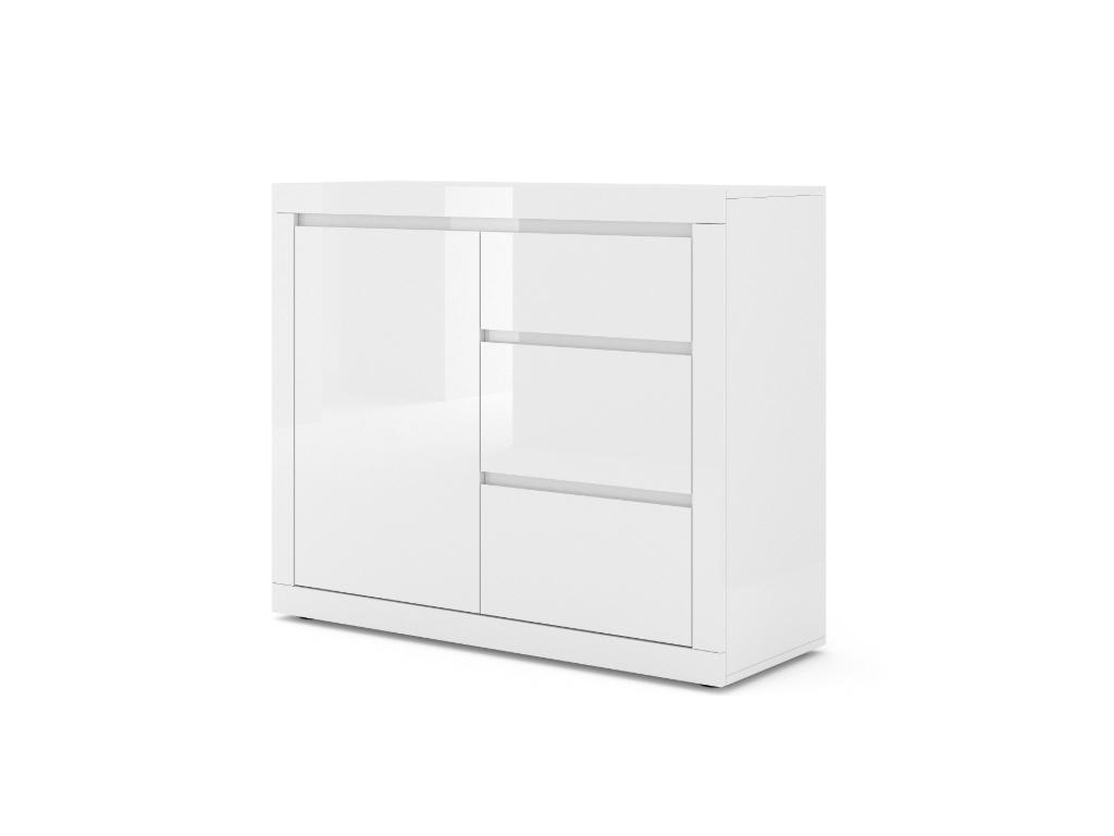 moderna biela leskla komoda COMO BIANCO 2 biely lesk