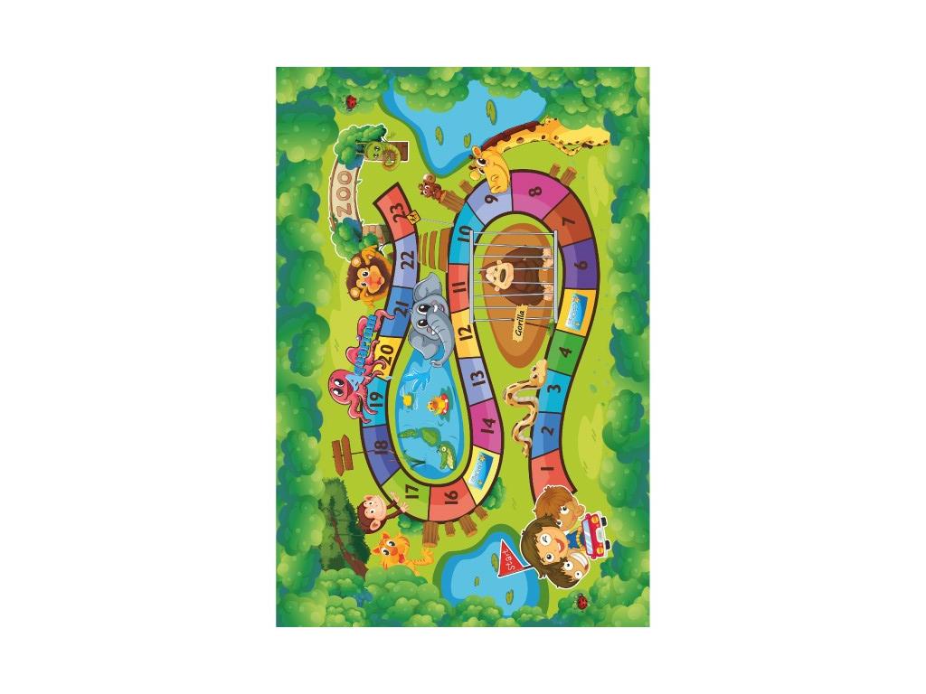 Koberec, detský vzor ZOO, 100x150, ZOAN